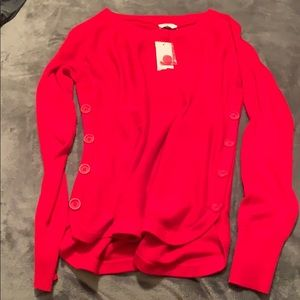 Crown & Ivy Red Light Sweater